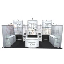 3m*6m moreden exhibition system booth stand display for trade show