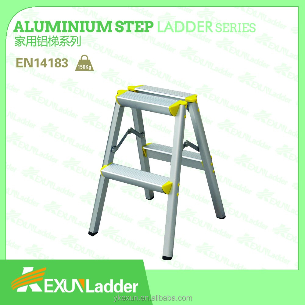 EN131 aluminum folding movable step ladder with double side