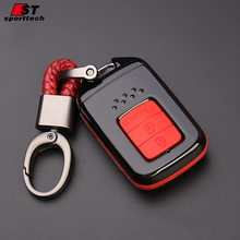 Plastic 3 button intelligence car key shell double protection silicone car key case customized key fob cover for Honda