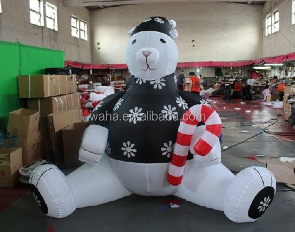 Christmas decoration Indoor/outdoor/advertising inflatable bear/3m/10ft W257