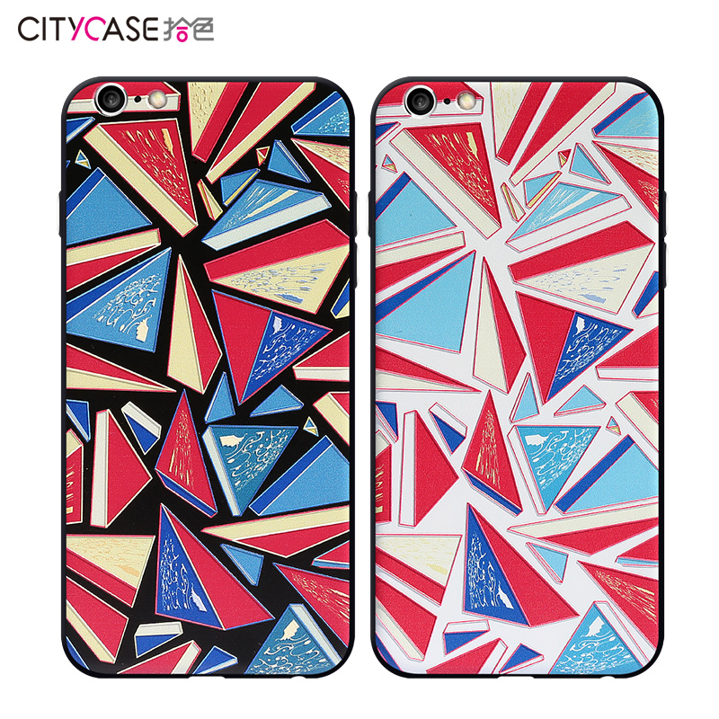 Citycase OEM Water proof Mobile Phone case cover for iphone 6 6S 6Plus Three Strips