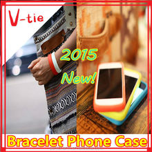 Modern design silicone bracelet mobile phone case for blackberry z20 made in china