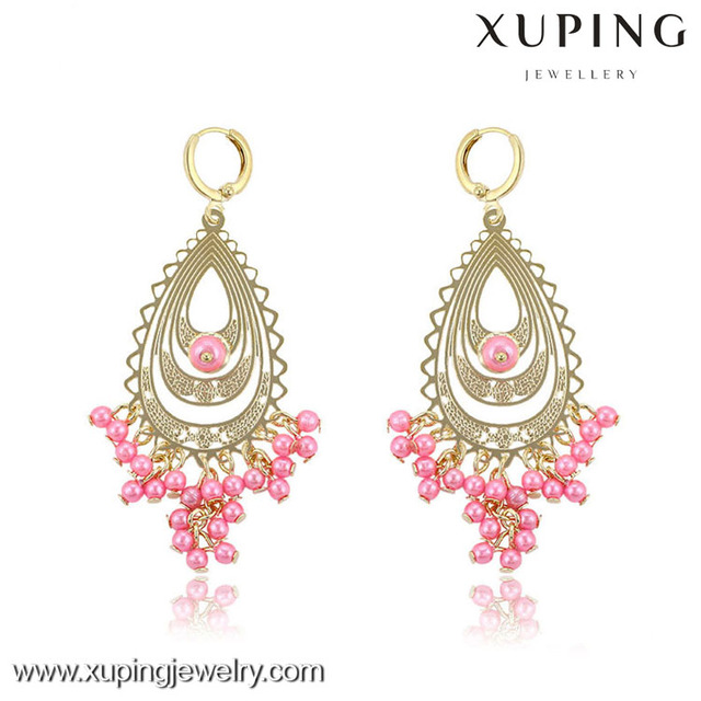Wholesale jewelry gold pearl earrings, women accessories bead drop earring