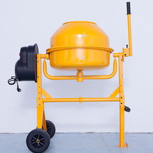 AU Type 140L electric reduction motor Concrete mixer cement mixer with poly drum