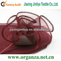 burgundy organza circle for wedding