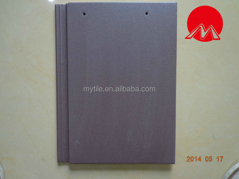 Flat Ceramic Roof Tile with purple color