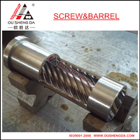 barrel sleeve with sprial groove for single barrel extrusion