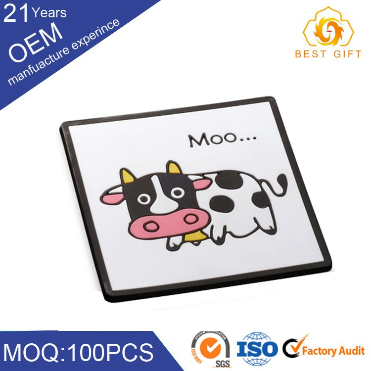 Eco-friendly custom silicone beer coaster ceramic coaster