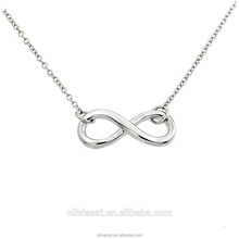 Olivia Women Love Jewelry Sterling Silver Plated Infinity Pendant Necklace 2018 Dubai Jewellery