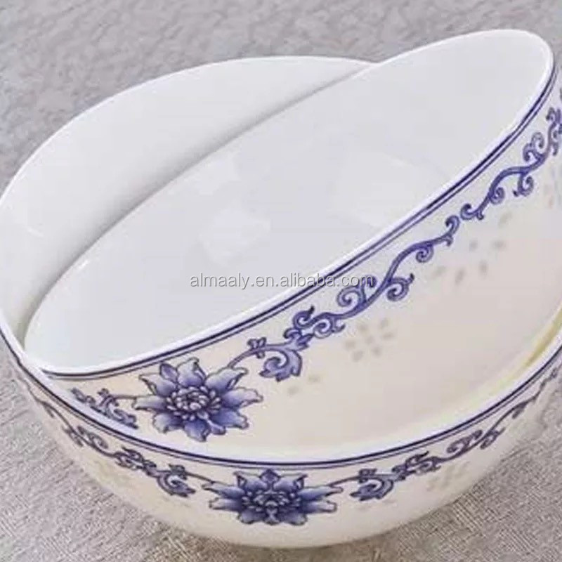 ceramic rice cooker bowls with blue flower