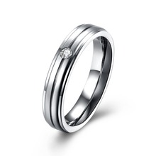 Wholesalers Custom Jewelry Valentine's Day Gifts Titanium Steel Couple Rings in China