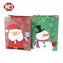 Wholesale custom Christmas cheap high quality paper bag for gift
