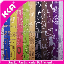 Microfiber suede printed leather artificial letter patten leather for making shoes