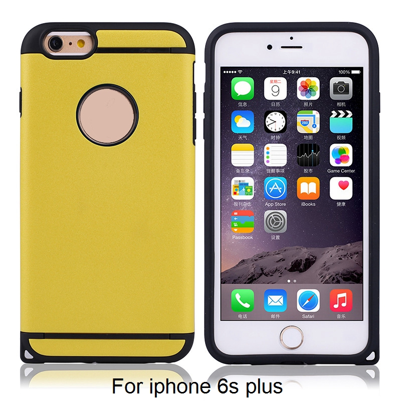 2017 Hot New Products for iphone 6plus case silicone + pc material for iphone 6 plus case 2016 new goods for <strong>apple</strong> i6 plus