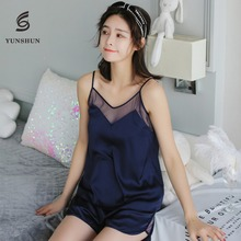 China manufacturer lightweight women silk sleeveless sexy nighty for honeymoon images