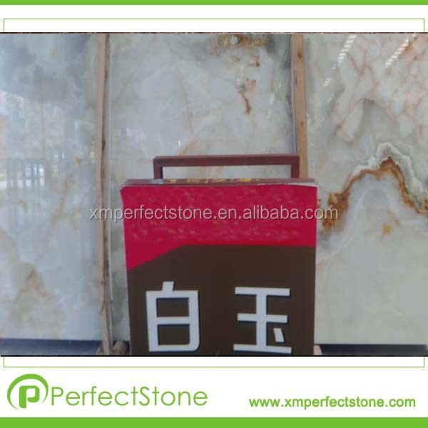 onyx Gemstone Material /white jade stone marble type and slab pictures