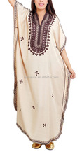 Top grade embroidery women long abaya kaftan dress design