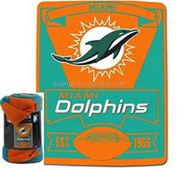 NFL Marque Dolphin Printed Fleece Throw Blankets