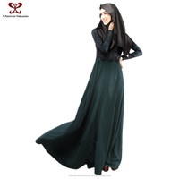 2016 New Fashion Lace Fake Two-Piece Latest Design Muslim Women Dress Pictures, Muslim Long Dress