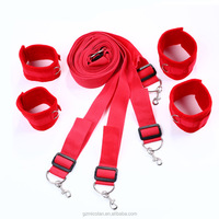 sexual kinky leather bondage male restraint cuffs shackles ankle sleep bed sex toy