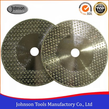 105-300mm Double Sides Triangle Dots Electroplated Diamond Saw Blades for Marble and Granite Cutting