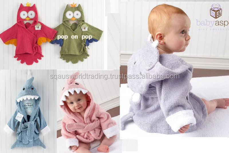 New Baby/Toddler Kids Animal Funky Hippo Cloth Bath Wrap Hooded Towel 47cm