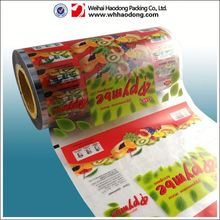 high quality laminated plastic film self heating food packaging