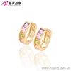 29255-xuping fashion women Jewelry hoop diamond earring models 18k gold plated earring