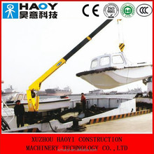 2 ton mini used marine crane floating crane used crane barge radio control for sale