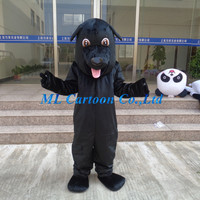 2015 hot sell black dog mascot costumes Christmas Cartoon costumes