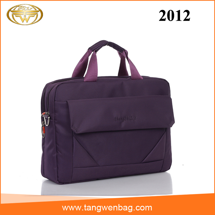 Tangwen wholesale purple 14 inch waterproof nylon briefcase laptop computer bag