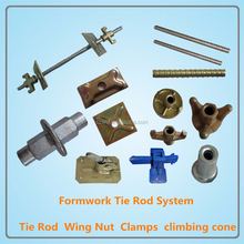 tie rod formwork accessories clamps, climbing cone, flange wing nut