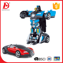 One key transformable trans robot toy car with sound
