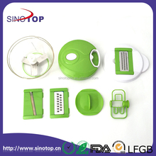 4 IN 1 vegetable slicer and cube with Grape & Tomatoe Slicer Manual Food Chopper Powerful Hand Held Vegetable Chopper