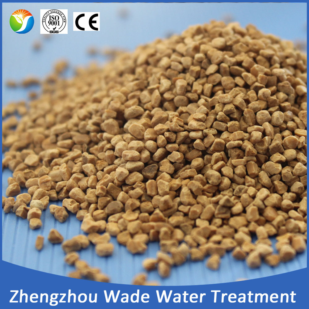 Crushed walnut shell filter media for oil remove