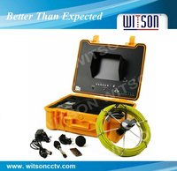 WITSON 66/98/131 feet (20/30/40m),10 inch monitor,New Released Drain CCTV Camera System