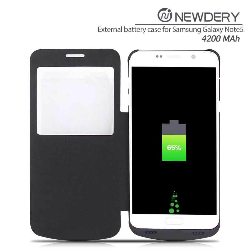 fast charging 4200mAh galaxy note5 power battery case with clip sleep universal mobile slim usb wall charger