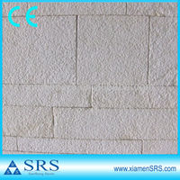 Outdoor white limestone wall cladding