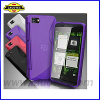 TPU Wave S line Gel Cover Case for Blackberry Z10,BB Z10 S Case