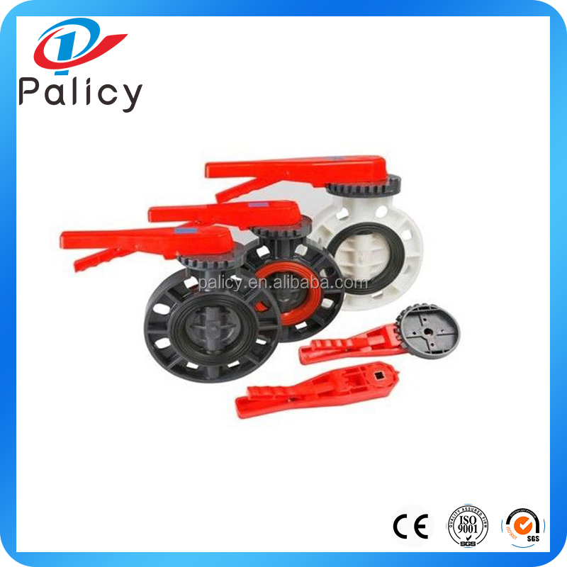 Low Friction Body Seat UPVC/PVC Plastic water butterfly valve