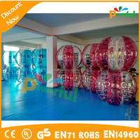 2016 Hot sale inflatable soccer bubble/bumper ball for football/bumper ball for adult