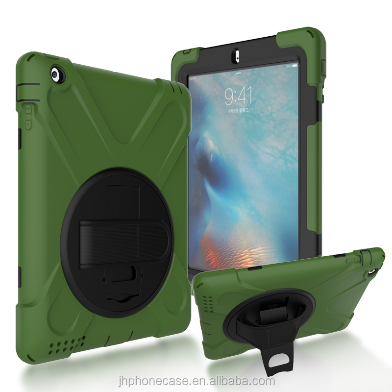 360 degree protective tablet shell handle belt original case for Apple iPad 4 10inch shockproof case
