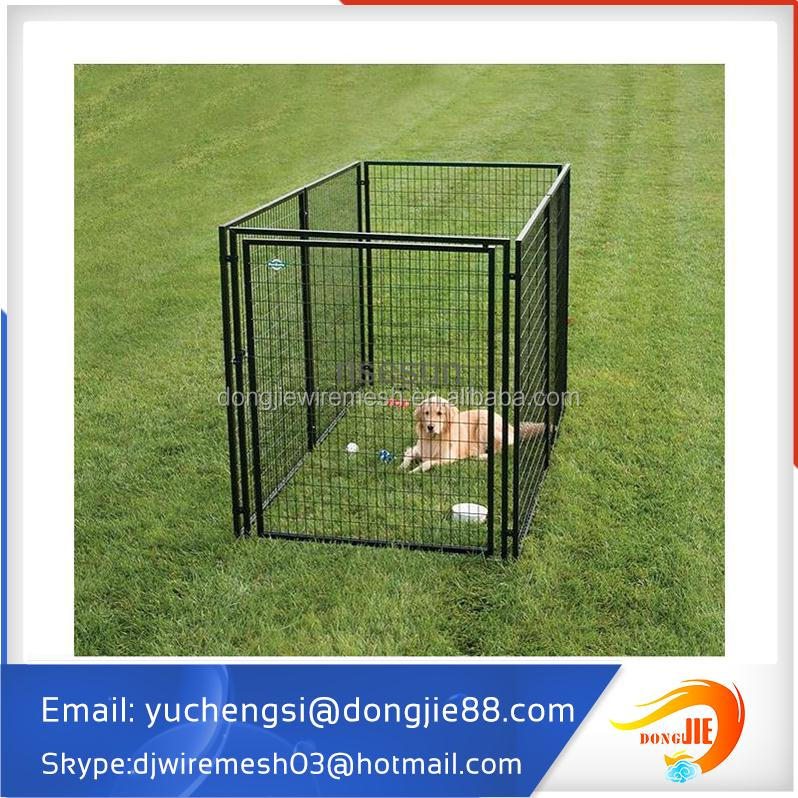 6'H x 5'W x 10'D black galvanized Chain Link dog Kennel & dog run & dog fence panel with cover cloth