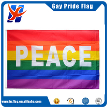 Rainbow Peace Flag 5 x 3 FT - 100% Polyester With Eyelets Banner Gay Pride