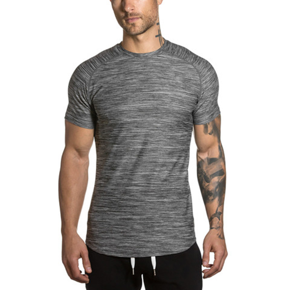 scoop bottom fitness clothing fitted t-shirt