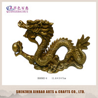 wholesale copper dragon statue /brass chinese dragon sculpture/qing long / fengshui decor/chinese zodiac