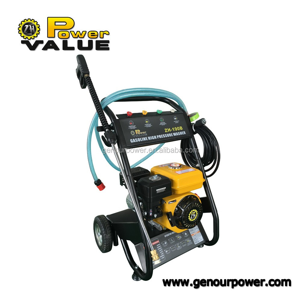 Power Value 12v portable Easy Start gasoline high pressure washer with OEM service
