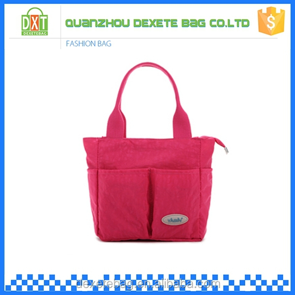 High-capacity polyester tote diaper pink bags baby