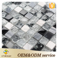 Factory Price Building Material 8 Mm Thickness Crystal Glass Tile Mosaic
