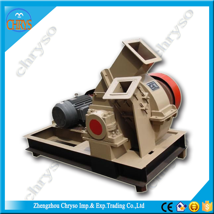 Full Automatic energy saving wood chips grinding machine, mobile wood chipper